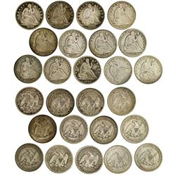 NY - Buffalo,Erie County - 1842-1877 - Seated Liberty Half Dollars - Fell Collection