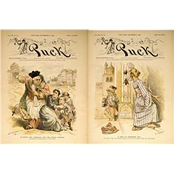 NY - New York,1889 - Puck Magazine Covers