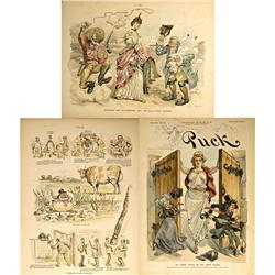 NY - New York,c1892, 1901 - Puck Magazine World's Fair/Pan American Exposition Illustrations
