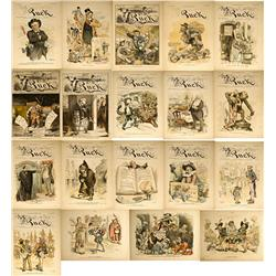 NY - New York,1880-1892 - Puck Political Cartoon Covers and Cartoons