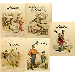 NY - New York,1888-1901 - Puck/Judge Illustrations on U. S. Business