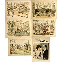 NY - New York,1890s - 1901 - Puck/Judge Magazine Illustrations of Miscellaneous Subjects Cartoons