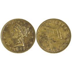 CA - 1847 - 1847 California Counter Token