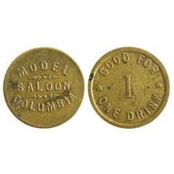 CA - Columbia,Tuolumne County - Model Saloon Token
