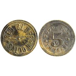 CA - Red Bluff,Tehama County - Red Bluff Saloon Token