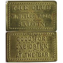 CO - Walden,Jackson County - c1908 - Club Saloon Token
