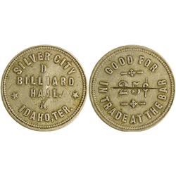 ID - Silver City,Owyhee County - c1860s - D Billiard Hall Token *Territorial*