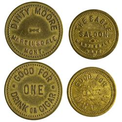 MT - Martinsdale,Meagher County - Eagle Saloon/ Dinty Moore Tokens