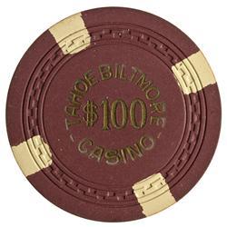 NV - Crystal Bay,Washoe County - Tahoe Biltmore Casino Chip $100
