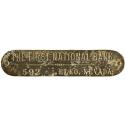 NV - Elko,First National Bank Token - Gil Schmidtmann Collection