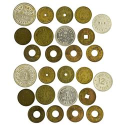NV - Ely,White Pine County - Grab Bag of Ely Tokens - Gil Schmidtmann Collection