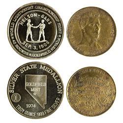NV - Goldfield,Esmeralda County - Nevada Boxing Medals - Gil Schmidtmann Collection