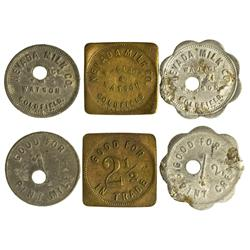 NV - Goldfield,Esmeralda County - Nevada Milk Co. Tokens - Gil Schmidtmann Collection