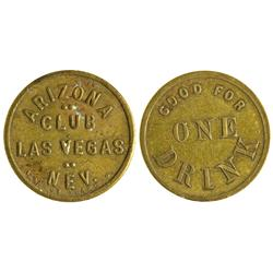 NV - Las Vegas,Clark County - Arizona Club Token - Gil Schmidtmann Collection