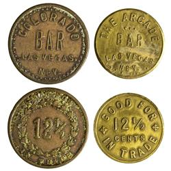 NV - Las Vegas,Clark County - Early Las Vegas Tokens - Gil Schmidtmann Collection