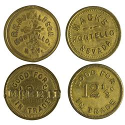 NV - Montello,Elko County - Montello Tokens - Gil Schmidtmann Collection