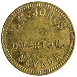 NV - Overton,Clark County - V. K. Jones Token - Gil Schmidtmann Collection