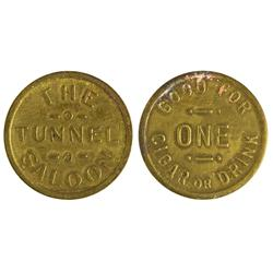 NV - Reno,Washoe County - Tunnel Saloon Token - Gil Schmidtmann Collection