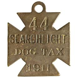 NV - Searchlight,Clark County - 1911 - Dog Tax Token - Gil Schmidtmann Collection