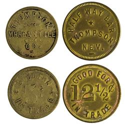 NV - Thompson,Lyon County - Thompson Merchantile Tokens - Gil Schmidtmann Collection