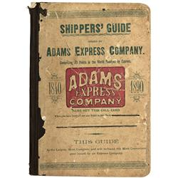 1890 - Adams Express Company Shipper's Guide