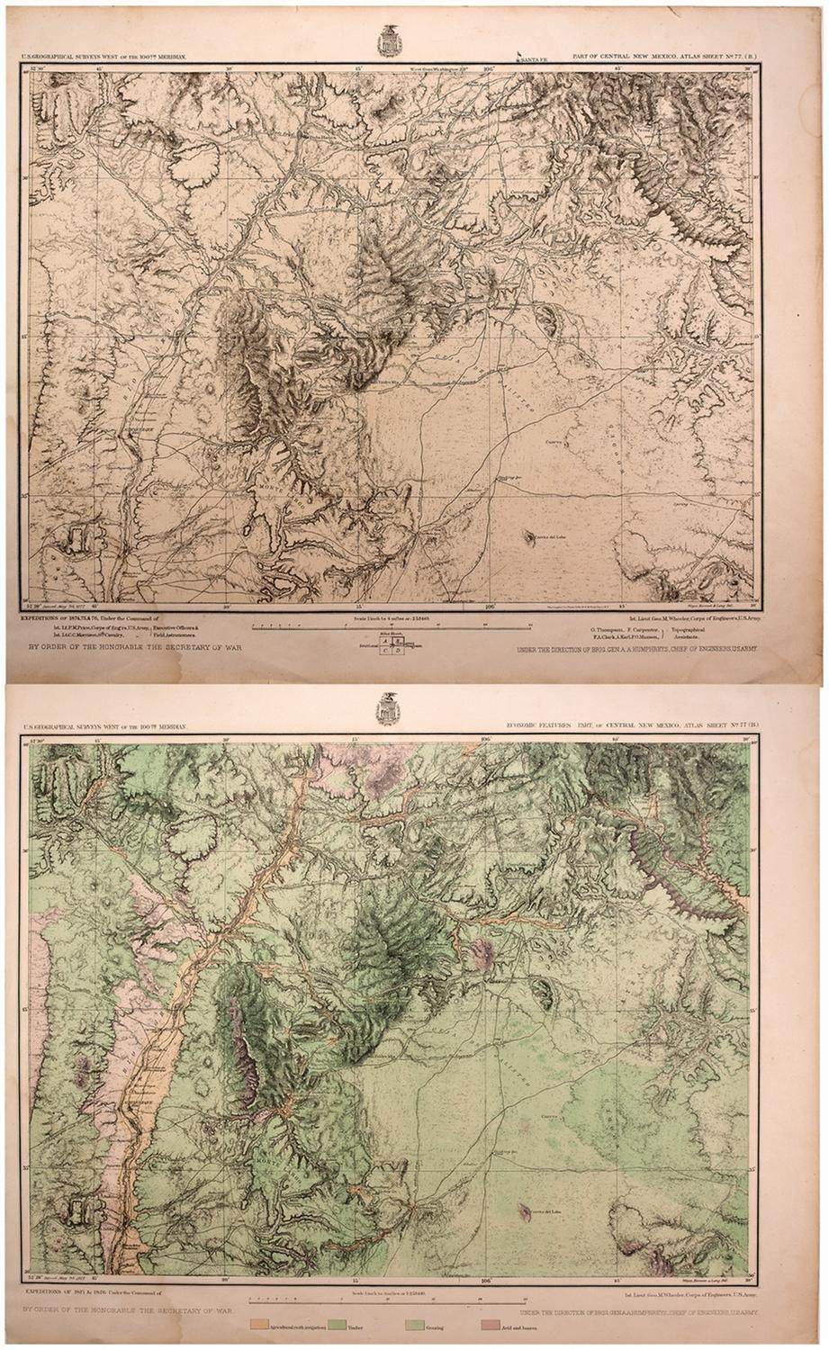 C1874 1876 Army Corps Of Engineers U S Geographical Maps - Us-corps-of-engineers-maps