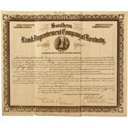 1891 - Kentucky- Southern Land Improvement Company