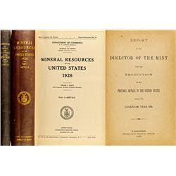 1892, 1926 - Mineral Resources of the United States 1926 and Report of the Director of the Mint upon