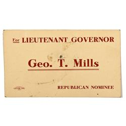 Nominee's Announcement for Lt. Governor