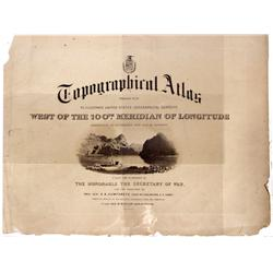 c1872 - Poster, Topographical Atlas