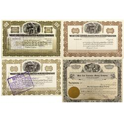 1914, 1926 - Smith,Borax- West End Mining Company Stock Certificate - Fenske Collection