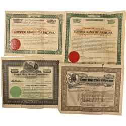 AZ - c1897-1909 - Copper King Stock Certificate Collection - Fell Collection