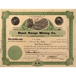 AZ - Oatman County,1928 - Black Range Mining Co. Stock - Clint Maish Collection