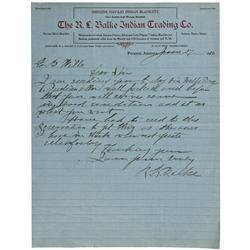 AZ - Phoenix,Maricopa County - Jan 27 1910 - R.L. Balke Indian Trading Co. Letterhead