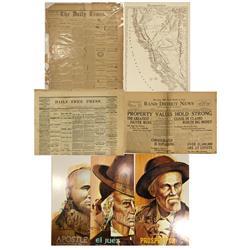CA - 1875-1972 - California Newspaper Grab Bag - Gil Schmidtmann Collection