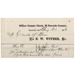 CA - El Dorado County,1883 - El Dorado County Billheads