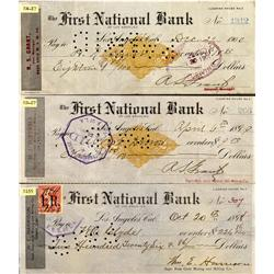 CA - Los Angeles,1898\99\1900 - First National Bank of Los Angeles Checks - Gil Schmidtmann Collecti