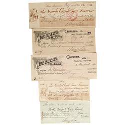 CA - San Francisco,Adolf Sutro Checks - Gil Schmidtmann Collection