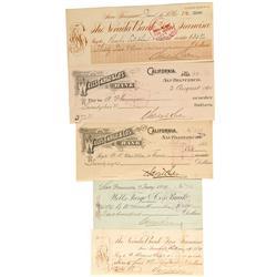 CA - San Francisco,1889-1896 - Adolf Sutro Checks - Gil Schmidtmann Collection