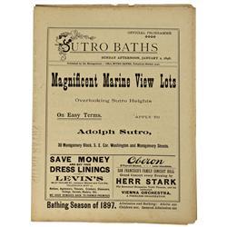 CA - San Francisco,1898 - Sutro, Adolph Baths Official Programmes - Gil Schmidtmann Collection