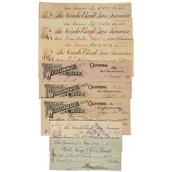 CA - San Francisco,1890s -  Sutro Adolph Checks - Gil Schmidtmann Collection
