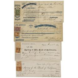 CA - San Francisco,c1870 - Bank of California Checks and Deposit Slip