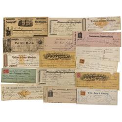 CA - San Francisco,c1880s-1900s - California & Other Misc Checks - Gil Schmidtmann Collection