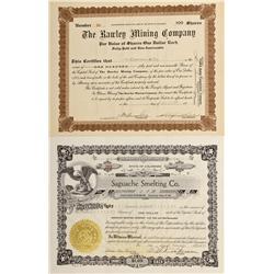 CO - Bonanza,Saguache County - 1917, 1956 - Bonanza Mining District Stock Certificate Group