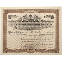 CO - Camp Fulford,Eagle County - 1901 - New York Mining and Development Company Stock Certificate