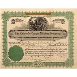 CO - Copperfield,Fremont County - 1900 - Colorado Copper Mining Company Stock Certificate - Fenske C