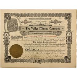 CO - Silver Cliff,Custer County - 1902 - The Valley Mining Company Stock