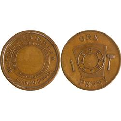 Dakota South - Lead,Lawrence County - Masonic Penny Token
