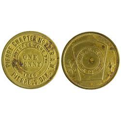 Dakota South - Pierre,Hughes County - Masonic Penny Token