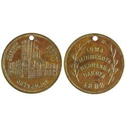 IA - Sioux City,1888 - Corn Palace Token